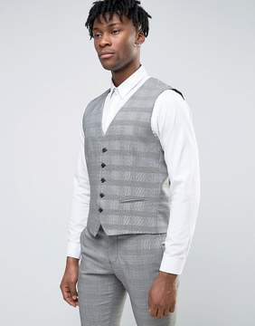 Selected Wedding Check Vest