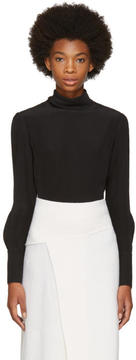 Chloé Black Button Back Blouse