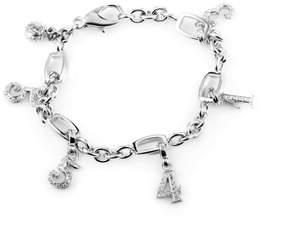 Franck Muller Talisman 18K White Gold & Diamond 6 Charm Bracelet