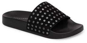 Lucky Brand Women's Piyaa Studded Slide Sandal