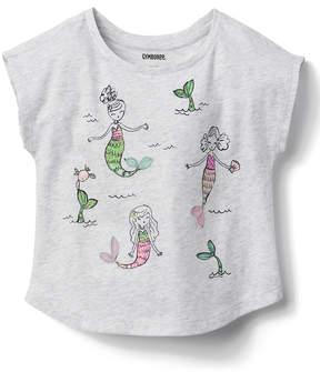 Gymboree Gray Cloud Heather Mermaid Tee - Infant, Toddler & Girls
