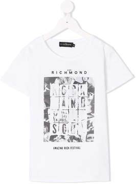 John Richmond Kids poster print T-shirt