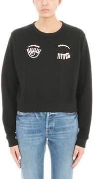 Chiara Ferragni Black Cotton Sweatshirt