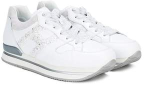 Hogan glittery logo sneakers