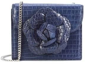 Oscar de la Renta Atlantic Alligator Mini Tro Bag