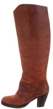 Acne Studios Distressed Knee-High Boots