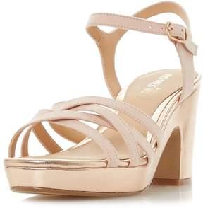 Head Over Heels *Head Over Heels by Dune Rose Gold 'Jaclyn' Sandals