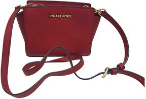 MICHAEL Michael Kors Selma leather crossbody bag - RED - STYLE