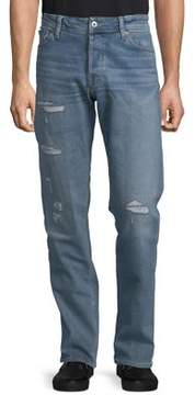 Jack and Jones Slim-Fit Distressed Jeans