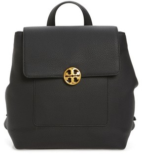Tory Burch Chelsea Leather Backpack - Black - BLACK - STYLE