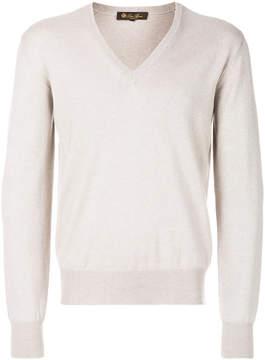 Loro Piana long sleeved V-neck sweatshirt