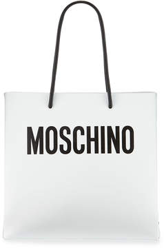 Moschino Large Leather Logo Tote Bag