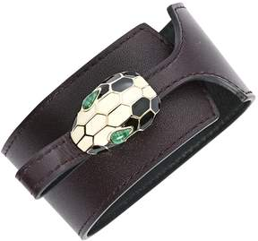 Bulgari Serpenti leather bracelet
