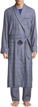 Derek Rose Ranga Long Brushed Cotton Robe