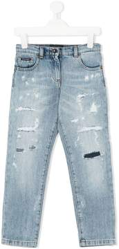 Dolce & Gabbana ripped slim jeans