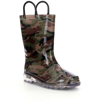 Western Chief Camo Boys Light-Up Rain Boots