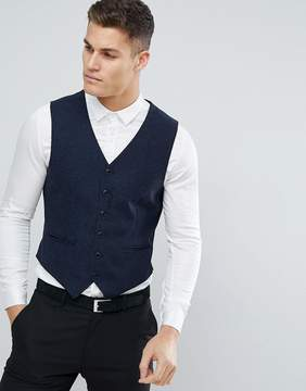 Jack and Jones Slim Tweed Vest