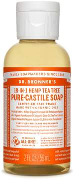 Dr. Bronner's Trial Size Tea Tree Liquid Soap by 2oz Liquid Soap)