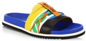 Moschino Multicolored Leather Sandals