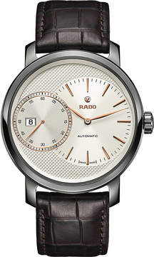 Rado R14129116 DiaMaster Automatic Grande Seconde ceramic and leather watch