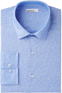 Bar III Men's Slim-Fit Stretch Easy-Care Small Jacquard Floral Dress Shirt, Created for Macy's