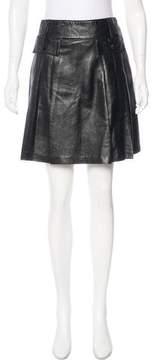 Anna Sui Leather Knee-Length Skirt