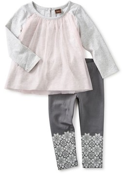 Tea Collection Toddler Girl's Mackenzie Tulle Tunic & Leggings Set
