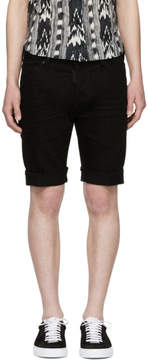 DSQUARED2 Black Denim Long Mod Shorts