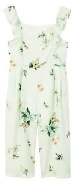 MANGO Ruffle floral jumpsuit