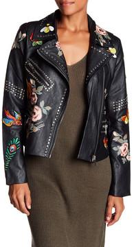 Bagatelle Studded Faux Leather Jacket
