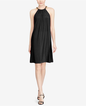 American Living Chain-Trim Jersey Dress