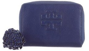 Tory Burch Tassel Leather Wallet - BLUE - STYLE