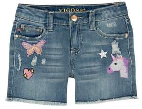 Vigoss Little Girl's Fantasy Land Denim Shorts