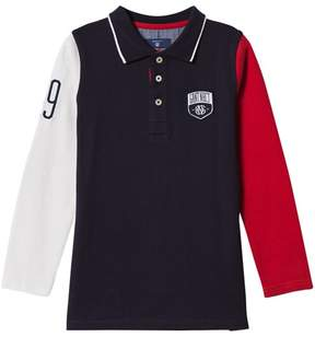 Gant Navy and Red Colour Block Rugby