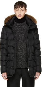 Moncler Black Down Cluny Coat