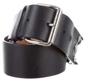 Celine Leather Logo-Embellished Belt