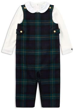 Ralph Lauren Boys' Wool Overalls & Bodysuit Set - Baby
