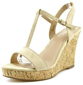 Charles David Charles By Libra Women US 7 Nude Wedge Sandal
