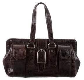Stuart Weitzman Embossed Leather Handle Bag