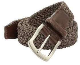 Saks Fifth Avenue COLLECTION Woven Buckle Belt