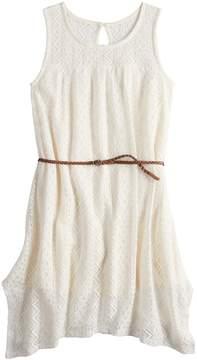 Mudd Girls 7-16 Lace Handkerchief-Hem Dress