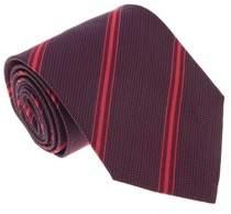 Missoni U4542 Red Regimental 100% Silk Tie.