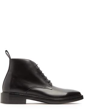 Balenciaga Lace-up leather ankle boots