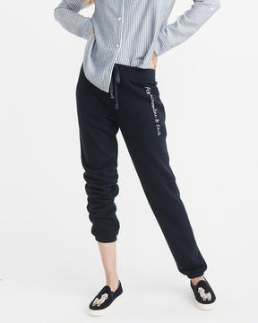 Abercrombie & Fitch Embroidered Logo Sweatpants