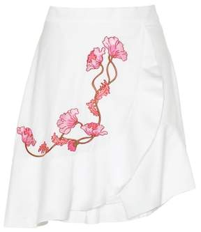 Carven Embroidered cotton skirt