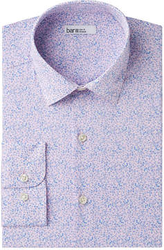 Bar III Men's Slim-Fit Stretch Easy-Care Watercolor Floral Dress Shirt, Created for Macy's