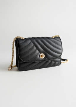 And other stories Quilted Small Leather Bag