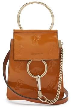 Chloé Faye Mini Little Horses Debossed Bag - Womens - Tan