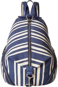 Rebecca Minkoff Julian Backpack Backpack Bags - NAVY STRIPE - STYLE