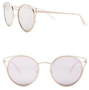 GUESS Women's Round Metal Frame Sunglasses